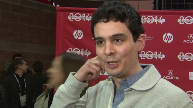 INTERVIEW Damien Chazelle at 'Whiplash' World Premiere 2014 Sundance Film Festival at Eccles Center Theatre on in Park City Utah