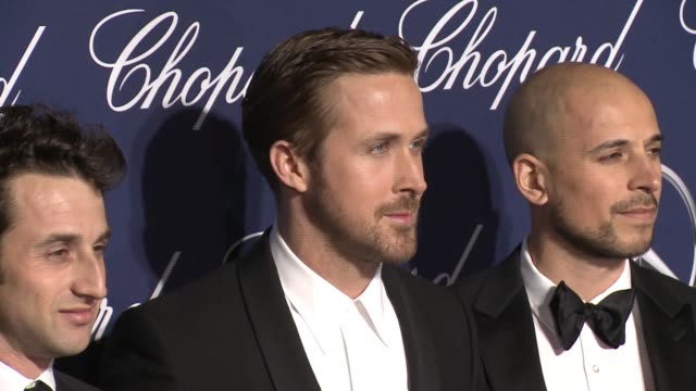 Damien Chazelle Justin Hurwitz Ryan Gosling Fred Berger at 28th Annual Palm Springs International Film Festival Awards Gala in Los Angeles CA