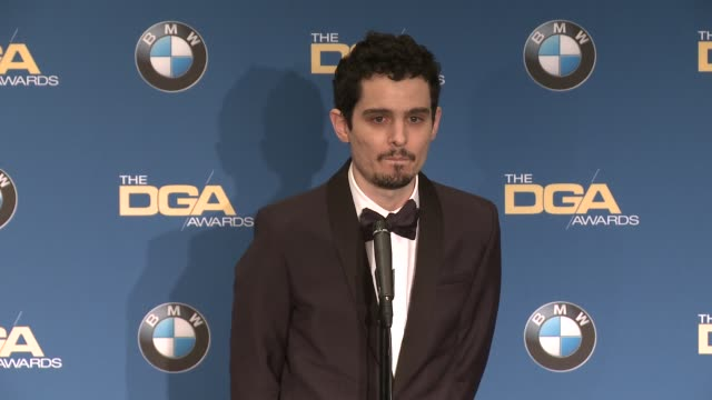 interview damien chazelleat 69th annual directors guild of america awards in los angeles ca - directors guild of america awards stock videos & royalty-free footage