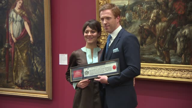 Damien Lewis Helen McCrory at Damian Lewis given keys to The City Of London at The Guildhall on March 19 2013 in London England