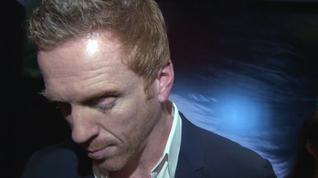 INTERVIEW Damien Lewis on the film on 'Homelands' if he would be in the next season at 'Silent Storm' Red Carpet at Vue West End on October 14 2014...