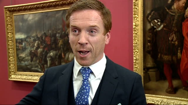 damien lewis receives freedom of the city of london lewis being interviewed by other media damian lewis interview sot symbolic honour and am... - dawn french stock videos & royalty-free footage