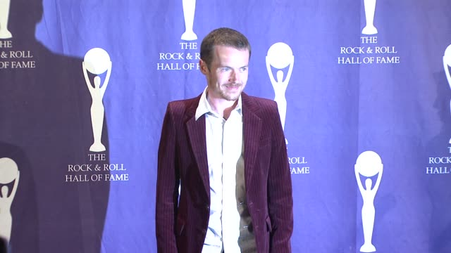 damien rice at the 23rd annual rock and roll hall of fame induction ceremony press room at the waldorf astoria in new york new york on march 10 2008 - hall of fame stock videos and b-roll footage