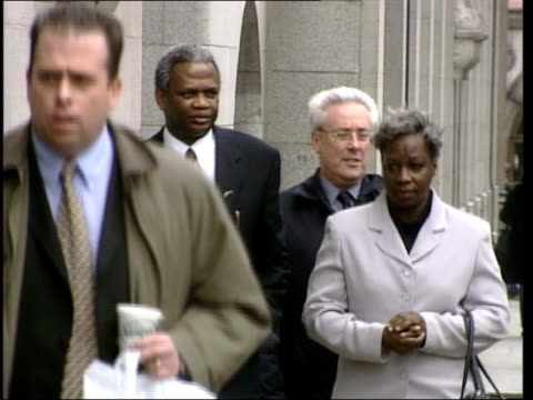 defendant takes stand england london old bailey richard gloria taylor towards as arriving at court for murder trial pull out - defendant stock videos & royalty-free footage