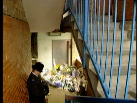 damilola taylor murder trial - prosecution witness gives evidence; lib england: london: peckham: ext gv stairwell where damilola taylor's body found... - witness stock videos & royalty-free footage