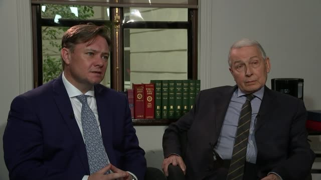 damning parliamentary inquiry brands sir philip green 'unacceptable face of capitalism' england london int iain wright mp and frank field mp chatting... - pension stock videos & royalty-free footage