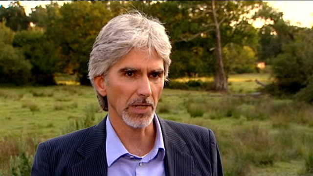 damon hill interview sot not good for formula one lots of pressure symptom of something much more deep - symptom stock videos and b-roll footage
