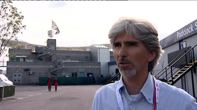 Damon Hill interview SOT