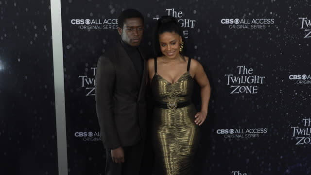 "damson idris and sanaa lathan at the premiere of ""the twilight zone' at the harmony gold preview house and theater on march 26, 2019 in hollywood,... - harmony gold preview theatre stock videos & royalty-free footage"