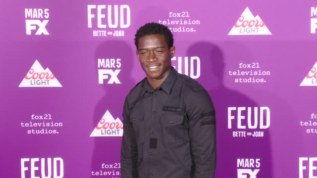 """damson idris at premiere of fx network's """"feud: bette and joan"""" in los angeles, ca 3/1/17 - fx network stock videos & royalty-free footage"""