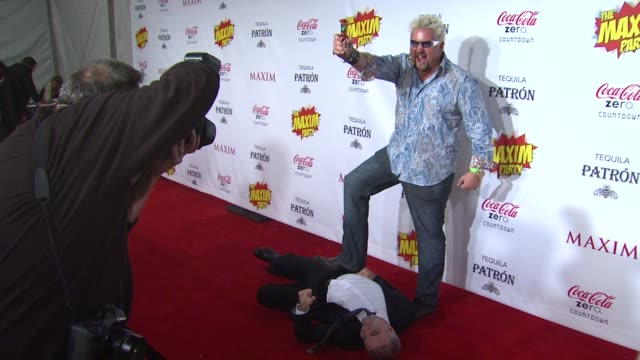dan bova guy fieri at patron presents the maxim party featuring cocacola zero countdown with paul mitchell on 2/4/12 in indianapolis in - paul mitchell stock videos and b-roll footage