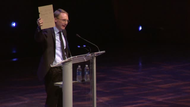 speech dan brown on writing his first book at the age of five on his rattled state when it comes to religion at dan brown at lincoln center an... - new age stock videos and b-roll footage