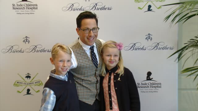dan bucatinsky at brooks brothers hosts mini classic golf tournament to benefit st jude children's research hospital at brooks brothers beverly hills... - st. jude children's research hospital stock videos and b-roll footage