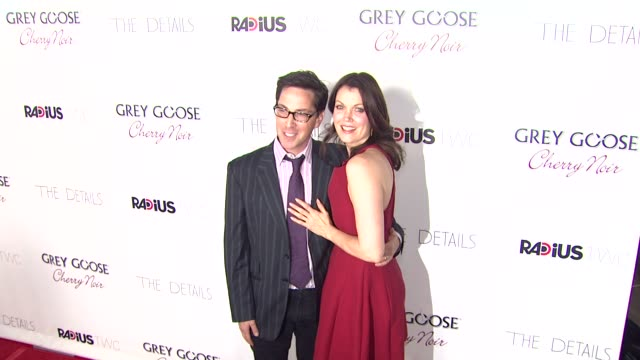 dan bucatinsky bellamy young at grey goose vodka hosts 'the details' premiere in hollywood 10/29/12 - grey goose vodka stock videos & royalty-free footage