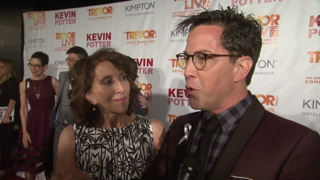 interview dan bucatinsky talks about reaching out to let young lgbtq people know they're not alone at the trevor project's trevorlive new york at... - marriott marquis new york stock videos & royalty-free footage