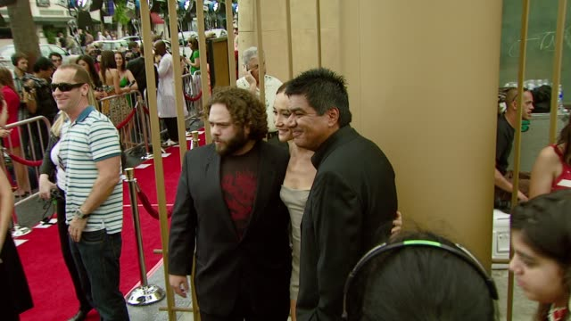 Dan Fogler Maggie Q and George Lopez at the 'Balls of Fury' Los Angeles Premiere at Universal CityWalk in Universal City California on August 25 2007