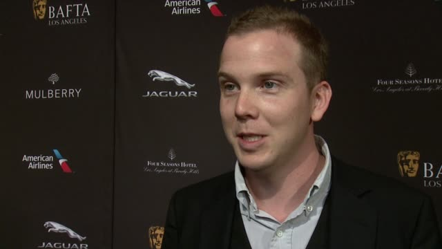 interview dan heath on being at the event on what makes the bafta tea party one of the most prestigious events of the weekend and on getting ready... - tea party stock videos and b-roll footage