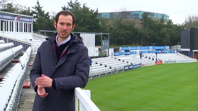 dan lawrence makes england debut in test match against sri lanka; england: essex: essex county cricket club: ext reporter to camera sot - sri lanka stock videos & royalty-free footage