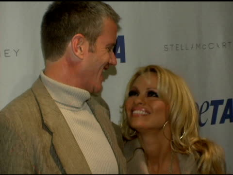 Dan Matthews and Pamela Anderson at the PETA's Fashion Week Bash Hosted By Pamela Anderson at Stella McCartney Store in New York New York on February...