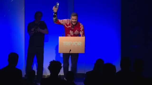speech – dan reynolds of imagine dragons accepts award announces a concert he will be performing on august 26th in provo utah called love loud at the... - provo stock videos & royalty-free footage