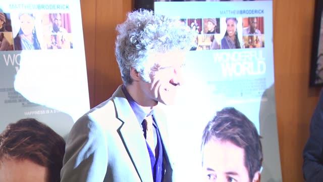 vídeos y material grabado en eventos de stock de dan zanes at the 'wonderful world' premiere at west hollywood ca - west hollywood