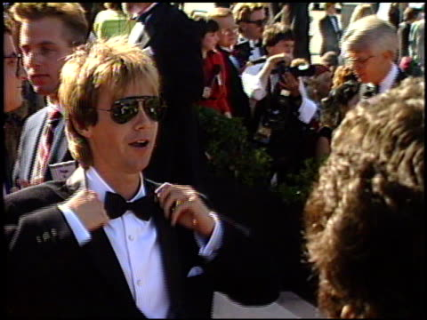 dana carvey at the 1989 emmy awards outside at the pasadena civic auditorium in pasadena california on september 17 1989 - awards ceremony stock videos & royalty-free footage