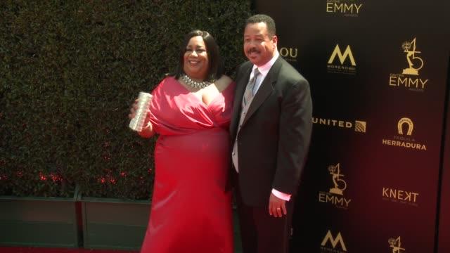 Dana Cutler and Keith Cutler at the 2018 Daytime Emmy Awards at Pasadena Civic Auditorium on April 29 2018 in Pasadena California