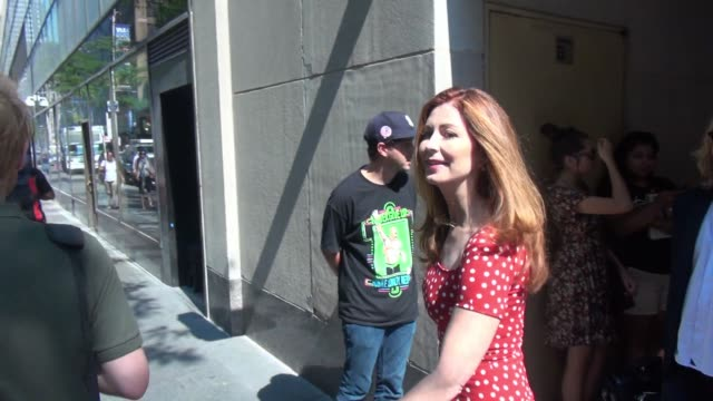 Dana Delany at the 'TODAY' show and signs for a fan in Celebrity Sightings in New York