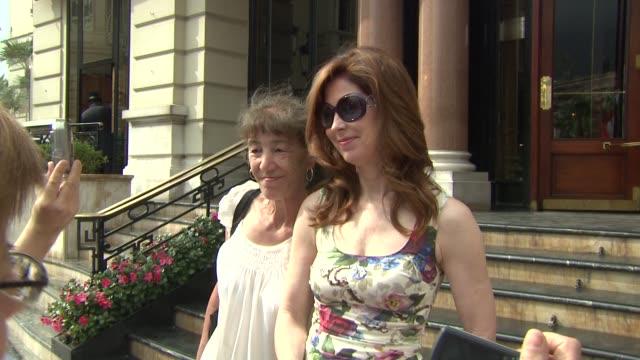 Dana Delany exits the Hotel de Paris at the 50th Monte Carlo TV Festival Celebrity Sightings at Monaco