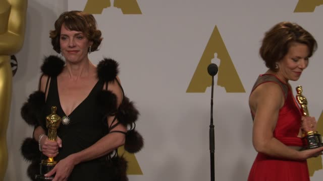 stockvideo's en b-roll-footage met speech dana perry ellen goosenberg kent at 87th annual academy awards press room at dolby theatre on february 22 2015 in hollywood california - dolby theatre