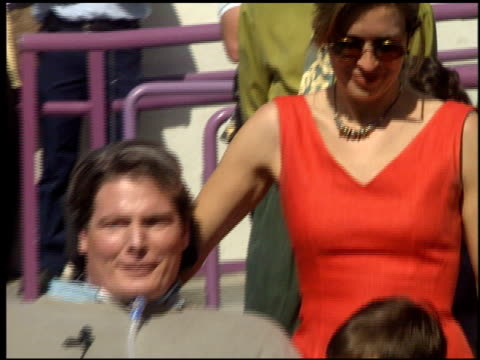 dana reeve at the dediction of christopher reeve's walk of fame star at the hollywood walk of fame in hollywood, california on april 15, 1997. - walk of fame stock videos & royalty-free footage