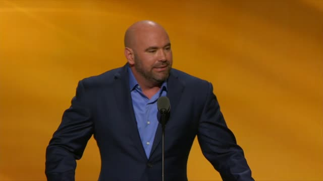 Dana White President of Ultimate Fighting Championship tells delegates at the convention that he is not a politician but a fight promoter that at...