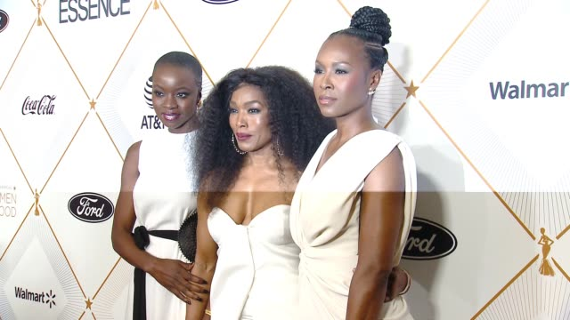danai gurira angela bassett and sydelle noel at the essence hosts its 11th annual black women in hollywood luncheon at the beverly wilshire four... - danai gurira stock videos and b-roll footage