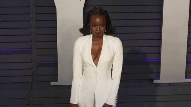 danai gurira at 2019 vanity fair oscar party hosted by radhika jones at wallis annenberg center for the performing arts on february 24 2019 in... - danai gurira stock videos and b-roll footage