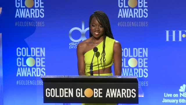 announcement danai gurira at 76th annual golden globe awards nominations at the beverly hilton hotel on december 06 2018 in beverly hills california - danai gurira stock videos and b-roll footage