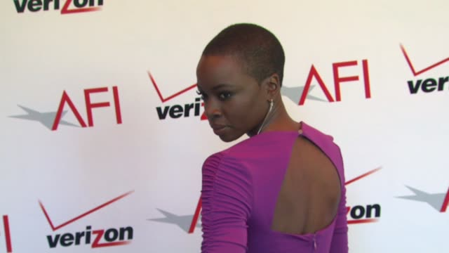 danai gurira at the 13th annual afi awards luncheon in beverly hills ca on 1/11/13 - danai gurira stock videos and b-roll footage