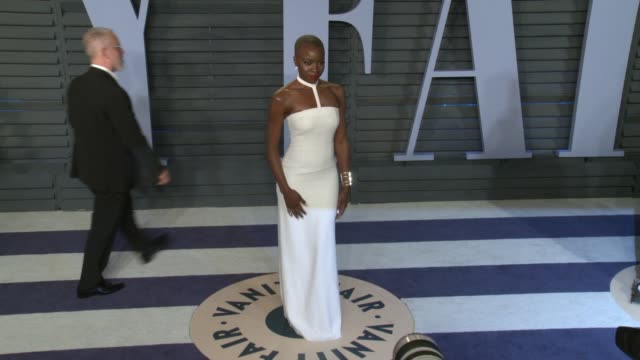 danai gurira at the 2018 vanity fair oscar party on march 04 2018 in beverly hills california - danai gurira stock videos and b-roll footage