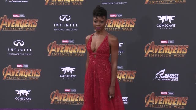 danai gurira at the avengers infinity war world premiere on april 23 2018 in hollywood california - danai gurira stock videos and b-roll footage