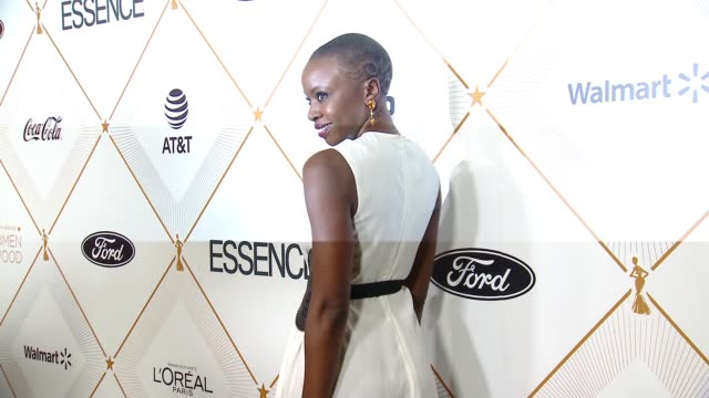 danai gurira at the essence hosts its 11th annual black women in hollywood luncheon at the beverly wilshire four seasons hotel on march 01 2018 in... - danai gurira stock videos and b-roll footage