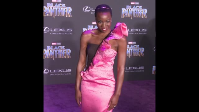 GIF Danai Gurira at the Marvel Studios' 'Black Panther' World Premiere