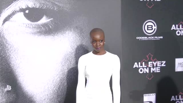 danai gurira at the premiere of lionsgate's 'all eyez on me' on june 14 2017 in los angeles california - danai gurira stock videos and b-roll footage