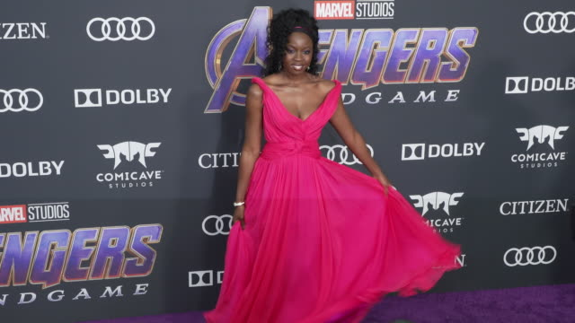 danai gurira at the world premiere of marvel studios' avengers endgame at los angeles convention center on april 22 2019 in los angeles california - danai gurira stock videos and b-roll footage