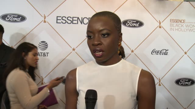 interview danai gurira on being yourself and defying convention at the essence hosts its 11th annual black women in hollywood luncheon at the beverly... - danai gurira stock videos and b-roll footage