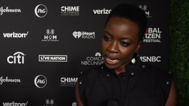 danai gurira on what it means to be a global citizen at the 2018 global citizen festival be the generation at central park on september 29 2018 in... - danai gurira stock videos and b-roll footage