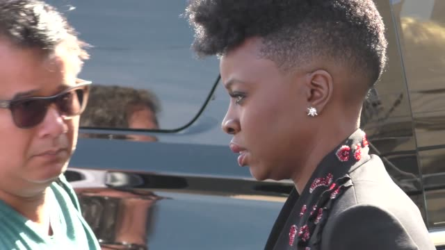 infinity war at jimmy kimmel live in hollywood in celebrity sightings in los angeles - danai gurira stock videos and b-roll footage
