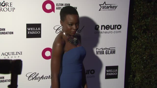 danai guriraat 23rd annual elton john aids foundation academy awards viewing party sponsored by chopard neuro drinks and wells fargo on february 22... - danai gurira stock videos and b-roll footage