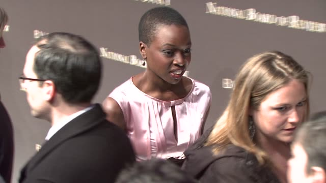 danai jekesai gurira at the the 2008 national board of review of motion pictures awards gala at new york ny - danai gurira stock videos and b-roll footage
