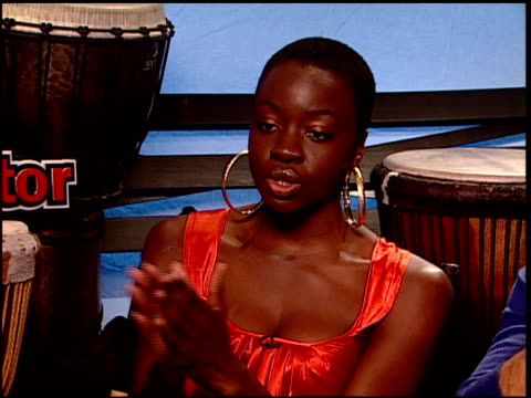 danai jekesai gurira on the impact the film had on them and their characters at the 'the visitor' junket at the four seasons hotel in los angeles... - danai gurira stock videos and b-roll footage