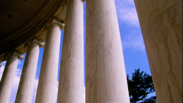 Danby Imperial marble Ionic columns of colonnade of Thomas Jefferson Memorial Founding Father liberty 3rd president author Republicanism
