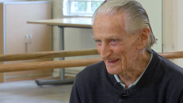 100yearold ballet teacher finally gets award 77 years after winning silver medal in wartime competition england int henry danton interview sot man... - medallist stock videos & royalty-free footage